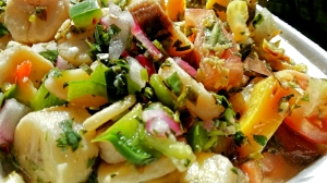 A vinegary and fresh plantain salad